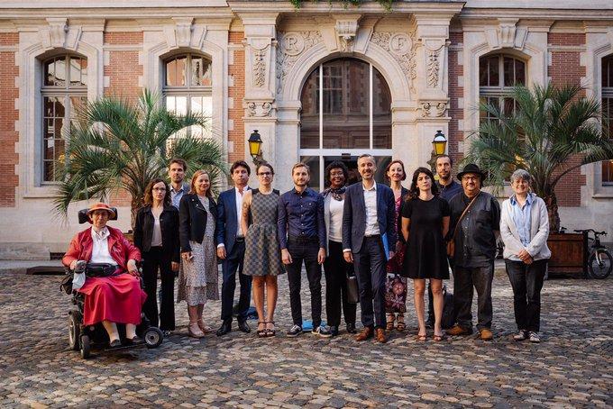 le groupe des élus Archipel citoyen lors du 1er conseil municipal du 3 juillet 2020