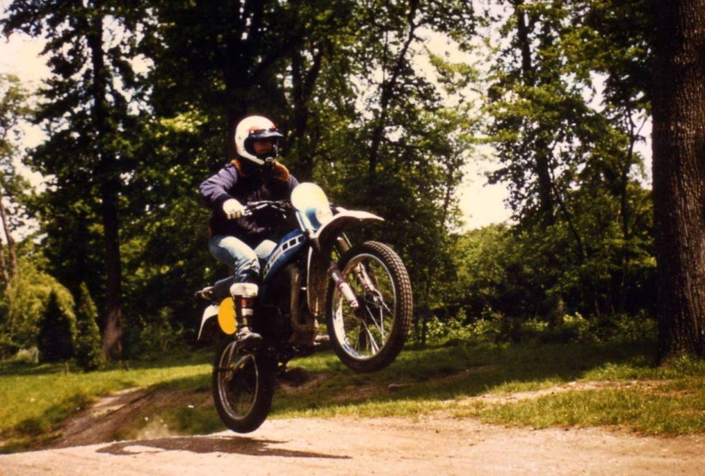 1981 sur ma moto 125 cm3