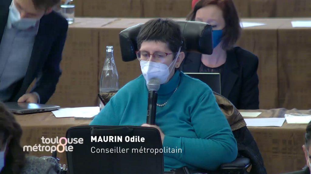 Odile Maurin lors du conseil métropolitain du 4 février 2021