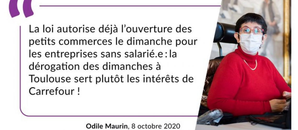 Conseil municipal du 8 octobre 2020 - Odile Maurin
